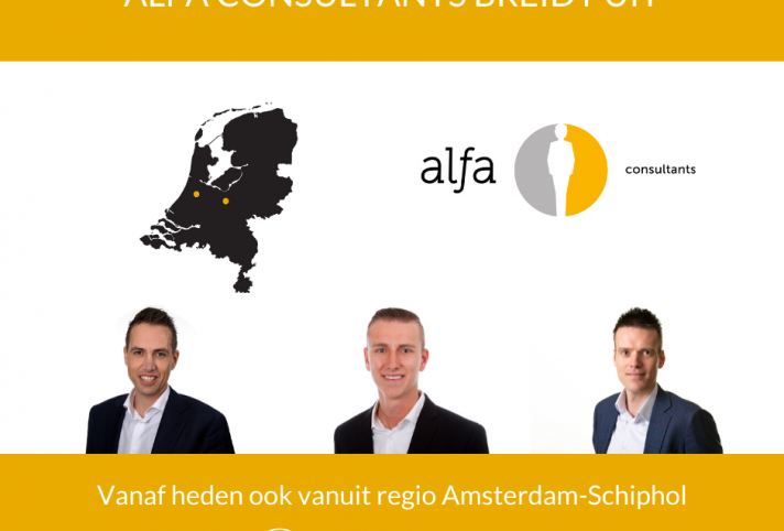 Alfa Consultants opereert vanaf heden ook vanuit regio Amsterdam-Schiphol